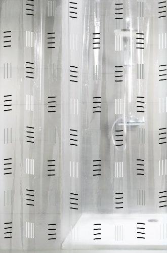 Kleine Wolke 4939901305 Duschvorhang Grafico, 180 x 200 cm, anthrazit