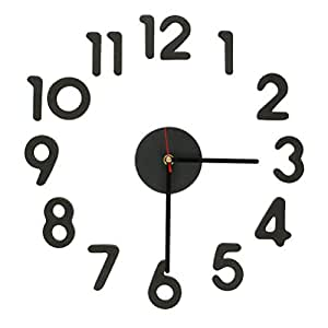 Amazon.com : New Modern Interior Design Decor Decal DIY Wall Clock Adhesive Numbers Digits