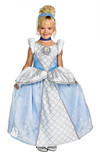 baby-girls - Cinderella Prestige Toddler Costume 3T-4T Halloween