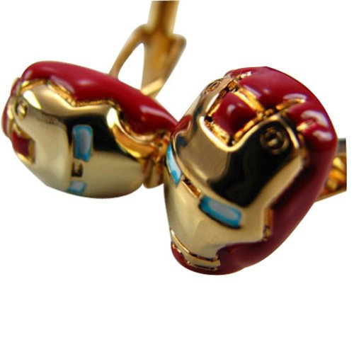 Worldfashion Iron Man Mask Influx Cool Men Unique Shirt Cufflinks Come In a Nice Gift Box by WorldFashion