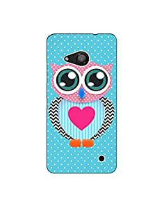 Micromax Lumia 550 ht003 (96) Mobile Case from Mott2 - Colorful Owl (Limited Time Offers,Please Check the Details Below)