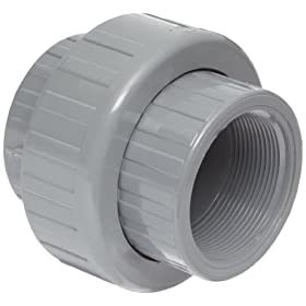 "Spears 897-C Series CPVC Pipe Fitting, Union with EPDM O-Ring, Schedule 80, 1-1/4"" Socket"