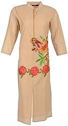 JOLLY Women's Cotton Casual Kurtas (J708(S)-16, Beige, XL)