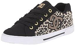 DC Women\'s Chelsea TX SP Skate Shoe, Leopard Print, 9.5 M US