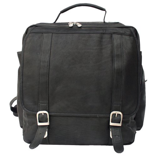 B002SIVC40 Piel Leather Vertical Computer Backpack, Black, One Size