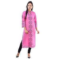 Kaash Women 's Straight Kurta_VRIEA04_XL_Pink