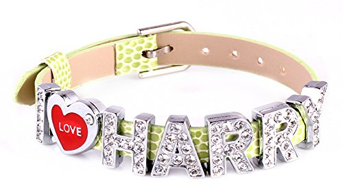 MBOX One Direction Style ID Member Bracelet Wristband Link Chain Fashion Jewelry (Green with I Love Harry) (Style Directions For Women compare prices)