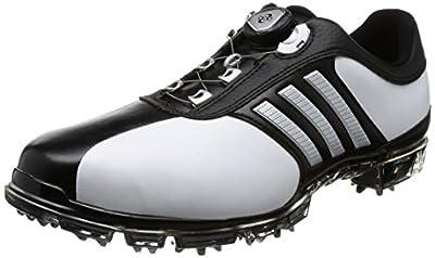 [アディダスゴルフ] ゴルフシューズ ピュアメタル ボア プラス メンズ ホワイトシルバーメタリックコアブラック 26 Cm 3e