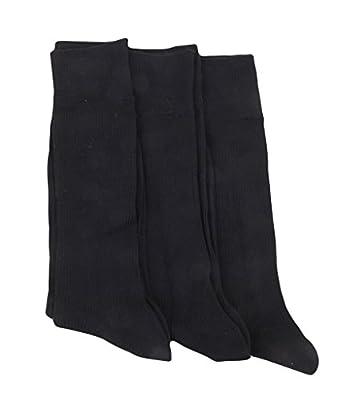 Calvin Klein Men's Black Rib Microfiber Socks - 3 Pairs