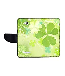 KolorEdge Printed Flip Cover For HTC Desire 616 Multicolor - (50KeMLogo09741HTC616)