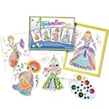Sentosphere Aquarellum Watercolor Art Kit - Princesses - Artistics Junior with 4 magic canvases