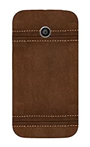 Back Cover for Moto E (1st Gen) Leather