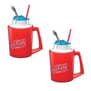 SLUSH MUGS Frozen Beverage Slushie Cups - SET OF 2 - Slushee Treats at Home