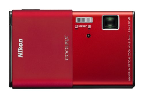 Nikon Coolpix S80 14.1 Mp Digital Camera With 3.5-Inch Oled Touchscreen And 5X Wide-Angle Zoom Nikkor Ed Lens (Red)