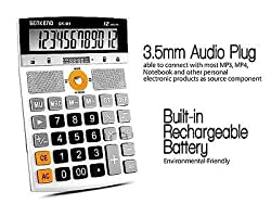 Multifunction 12 Digit Electronic Calculator with MP3 Player with Speaker + USB slot