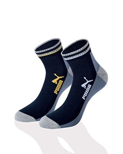 Puma Pack x 12 Calcetines Azul Marino