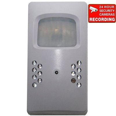 VideoSecu Pinhole Lens Hidden PIR DVR Security Camera Covert 3.7mm Wide View Angle 420 TV Lines Body Heat Motion Sensor DVR CCTV Surveillance Recording 1N1