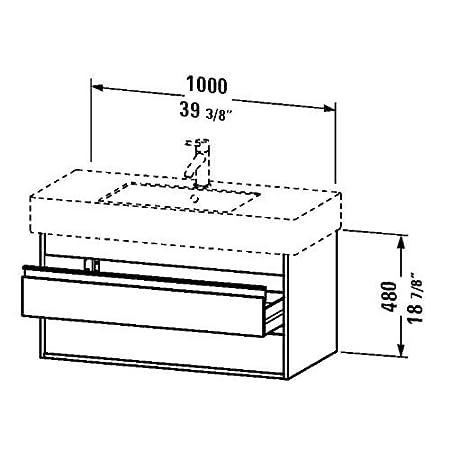 Duravit Waschtischunterschrank Ketho 455x100x480mm fur 032910, weiss matt, KT664101818