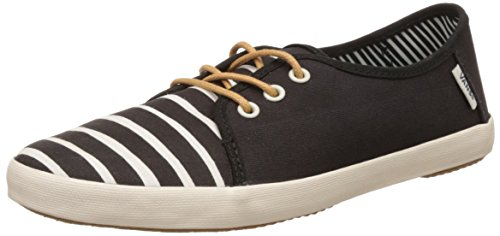 Vans Women's Tazie Mid Stripe Black Sneakers -  3.5 UK/India (36 EU)