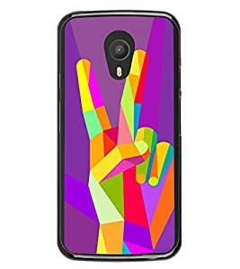 Colourful Victory Sign 2D Hard Polycarbonate Designer Back Case Cover for Meizu M2 Note :: Meizu Blue Charm Note2