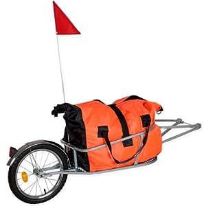 TecTake Remorque vélo cargo avec un sac