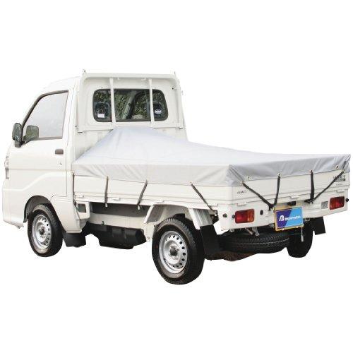BONFORM ( ボンフォーム ) 便利用品 軽トラック用 防水荷台シート(シートゴムバンド×12 アングルポスト固定用丸ヒモ×2)付き シルバー  (177X210) 6650-01SI