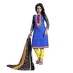 Shree Hari Creation Women's Poly Cotton Unstitched Dress Material (249_Multi-Coloured_Free Size)