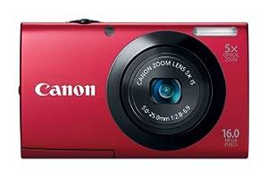 Canon PowerShot A3400 IS Digitalkamera (16 Megapixel, 5-fach opt. Zoom, 7,6 cm (3 Zoll) Touch-Display, bildstabilisiert) rot