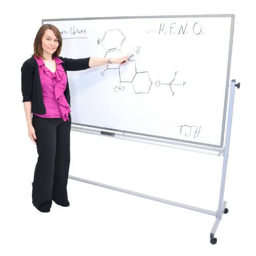 Luxor Double Sided 72 X 40 Mobile Reversible Dry erase Adjustable Magnetic Whiteboard (Dry Erase Board With Wheels compare prices)