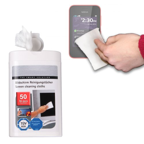 Duragadget Anti-Static Lcd Touchscreen Cleaning Cloths For Nokia 220, Nokia Asha 230