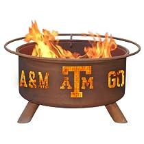 Texas A&M Fire Pit in Natural Rust Patina - Collegiate