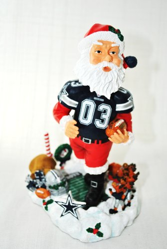 Dallas Cowboys Official NFL Santa Clauss xmas resin hand painted Limited Edition Bobble at Amazon.com