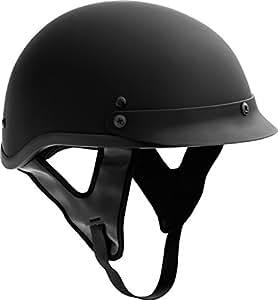 Fuel Helmets SH-HHFL67 HH Series Half Helmet, Flat Black, X-Large