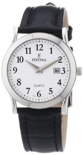 Festina F16521/1 - Reloj analógico de cuarzo para mujer con correa de piel, color negro