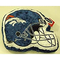 Denver Broncos NFL Helmet Himo Plush Pillow