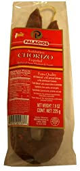Chorizo Pork Sausage from Spain, Mild (Palacios) 7.9 oz (225g)