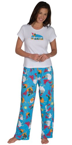 Rise and Shine Rooster Pajamas for Women