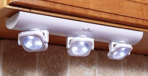 White Under Cabinet Swivel Lights