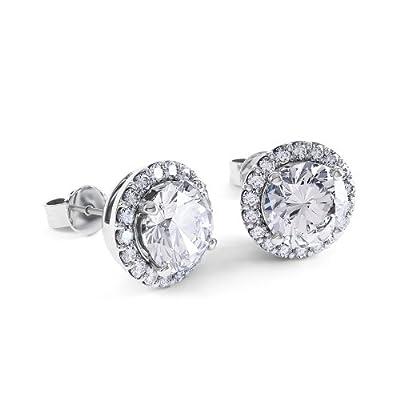 2ct Stardust Diamond Halo Stud Earrings