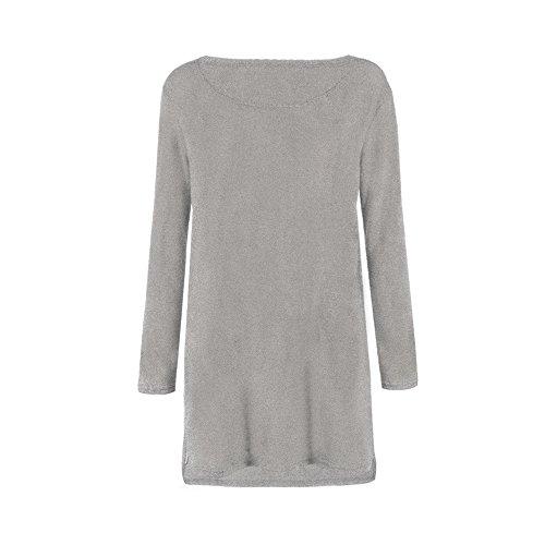dreshow-womens-side-split-sweater-dress-gris-s