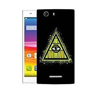 Snoogg Triangle Eye Designer Protective Back Case Cover For MICROMAX NITRO 2