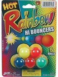 Rainbow Hi Bounce Balls 5Pk - 1