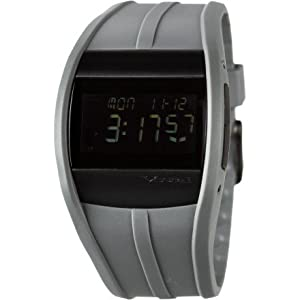 Vestal Mens Cru020 Crusader Grey Polyurethane Digital Surf Watch