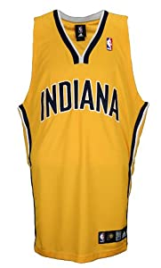 Indiana Pacers NBA Authentic Blank Team Jersey, Yellow by adidas