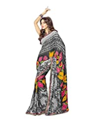 FadAttire Georgette Chiffon Printed Saree With Blouse FAPKS30