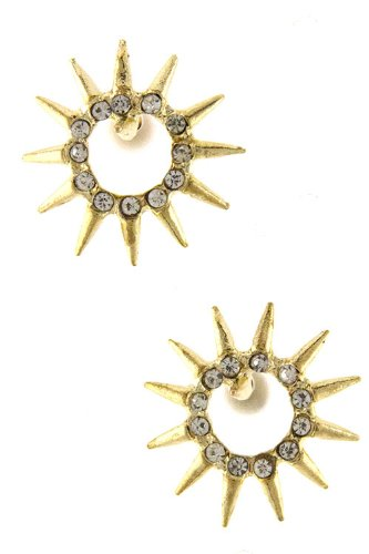 Karmas Canvas Radiating Spike Earring (Gold)