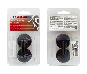 Unsquashable - Juego de 2 pelotas de squash azul azul Talla:talla única