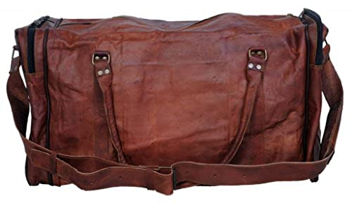 Komal's Passion Leather 24 Inch Square Duffel