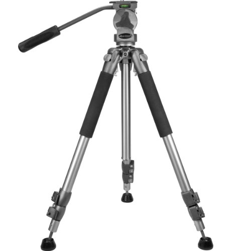 BARSKA Professional Tripod, Extendable to 66″ w/ Carrying Case