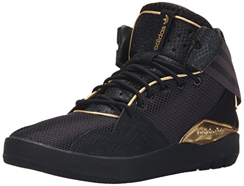 Adidas Originals Men's Crestwood Mid Shoe,Black/Gold/Black,11 M US